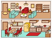 Set of Adjustable Interior Furniture Design. Vector file EPS10 Royalty Free Stock Photography