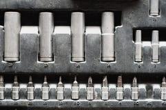Set of adjustable metallic keys for automobiles Stock Photos