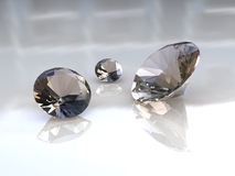 Set of adorable champaign diamonds. 3D render Royalty Free Stock Image