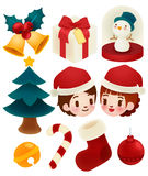 Set of adorable christmas icons. Vector file EPS10 Royalty Free Stock Images