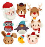 Set of adorable christmas icons Stock Photo