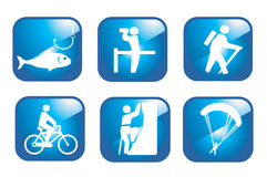 Set adventure icons Stock Image
