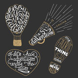 Set of adventure lettering for greeting cards and posters Royalty Free Stock Photos