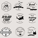 Set of adventure logos and badges. Set of adventure and travel logos and badges Royalty Free Stock Photo