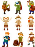 Set of Adventurer people Stock Photos
