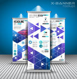 Set of Advertisement roll up business flyers or brochure x-banners Stock Photography