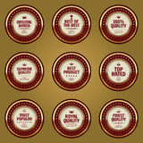 Set of advertising badges. Set of luxury advertising badges Stock Photos