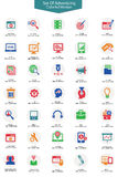 Set of Advertising icons,Colorful version. On white background Stock Photography