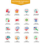 Set of Advertising icons,Colorful version Stock Photography