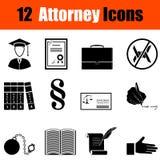 Set adwokat ikony Fotografia Stock