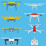 Set of aerial drones Royalty Free Stock Image