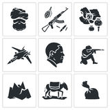 Set of Afghanistan Vector Icons Royalty Free Stock Images
