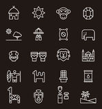 Set of Africa related icons Royalty Free Stock Images
