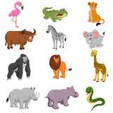 Set of african animals cartoon royalty free illustration