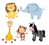 Set of african animals. On white background Royalty Free Stock Images