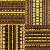Set of African backgrounds Stock Image