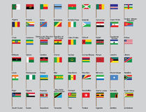 Set of African countries flags. Vector illustration Stock Image