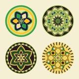 Set of African decorative elements tribal print vector illustration