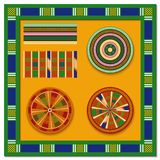 Set of African decorative elements. Tribal print. vector illustration