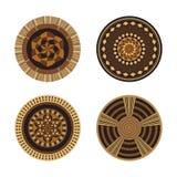 Set of African decorative elements. Tribal print royalty free illustration