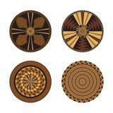 Set of African decorative elements. Tribal print vector illustration