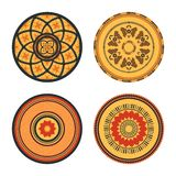 Set of African decorative elements. Tribal print. stock illustration