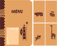 Set of African Design Elements Stock Photos