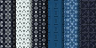Set of African ethnic seamless patterns royalty free illustration