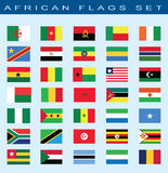 Set of African flags, vector illustration. Stock Photography