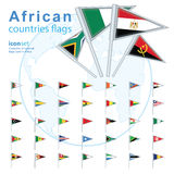 Set of African flags, vector illustration. Royalty Free Stock Photography