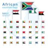 Set of African flags, vector illustration. Set of African flags, vector illustration Royalty Free Stock Image