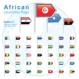 Set of African flags, vector illustration Stock Photo