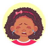 Set of african girls emotions Stock Image