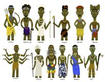 A set of African gods Stock Photography