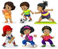 Set of african kids vector illustration