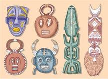 Set of African Masks. Illustration stock illustration