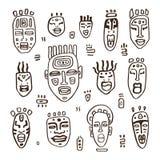 Set of African masks. Royalty Free Stock Image