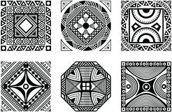 Set of African ornament. Black and white style Royalty Free Stock Photos