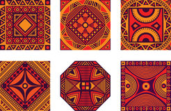 Set of African ornament Stock Image