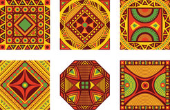 Set of African ornament Stock Photography