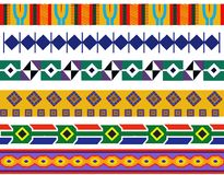 A set of  African pattern designs Stock Image