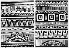 Set of African patterns Royalty Free Stock Photos