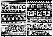 Set of African patterns stock illustration
