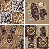 Set of African Seamless Tiles Stock Photography
