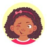 Set afrykańskie dziewczyn emocje Zdjęcia Stock