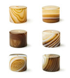 Set agate beads with different textures Stock Photography