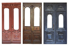 Set of aged doors Royalty Free Stock Image