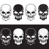 Set of aggressive skulls vector design Royalty Free Stock Images