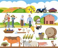A set of agricultural elements Stock Image