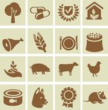 Set of agricultural icons Stock Image